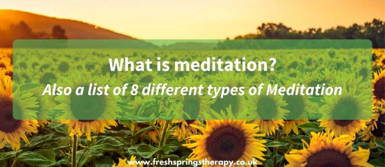 What is meditation_ also a list of 8 different types of meditation