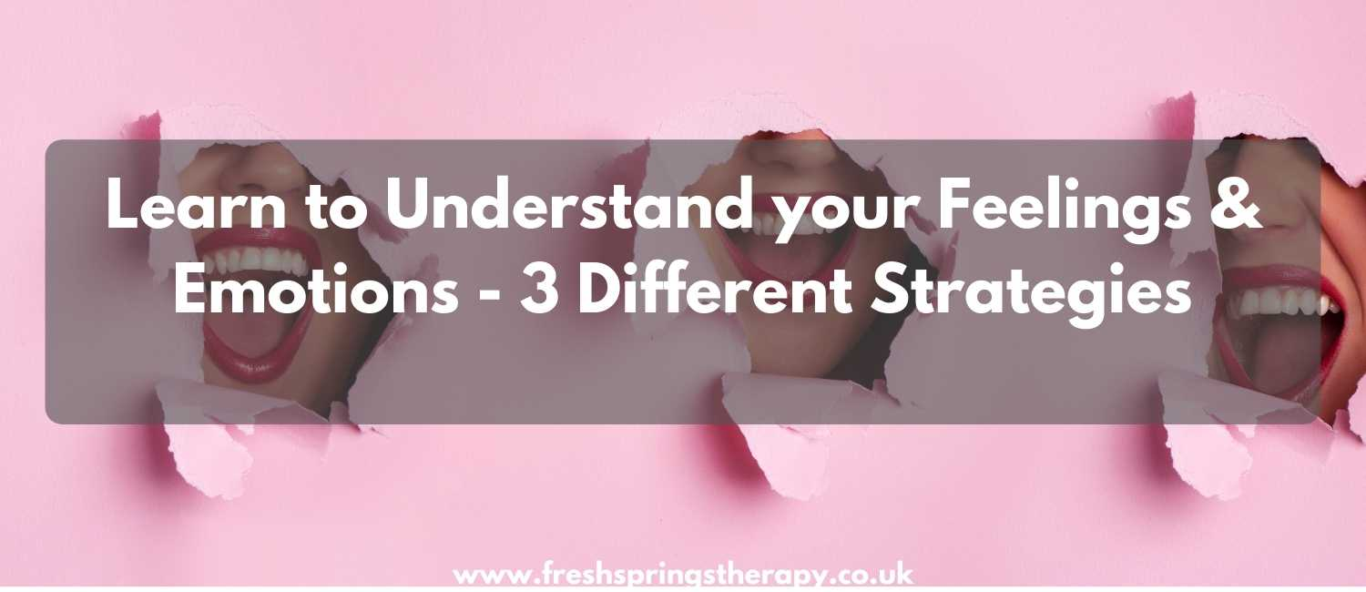 Learn to Understand your Feelings & Emotions - 3 Different Strategies
