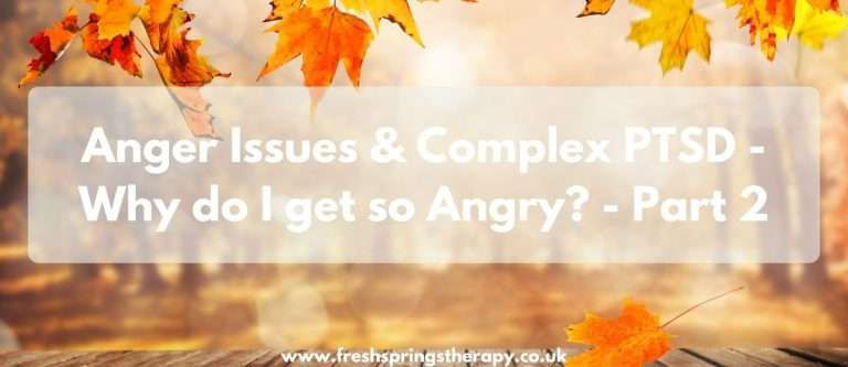 Anger Issues & Complex PTSD – Why do I get so Angry? – Part 2